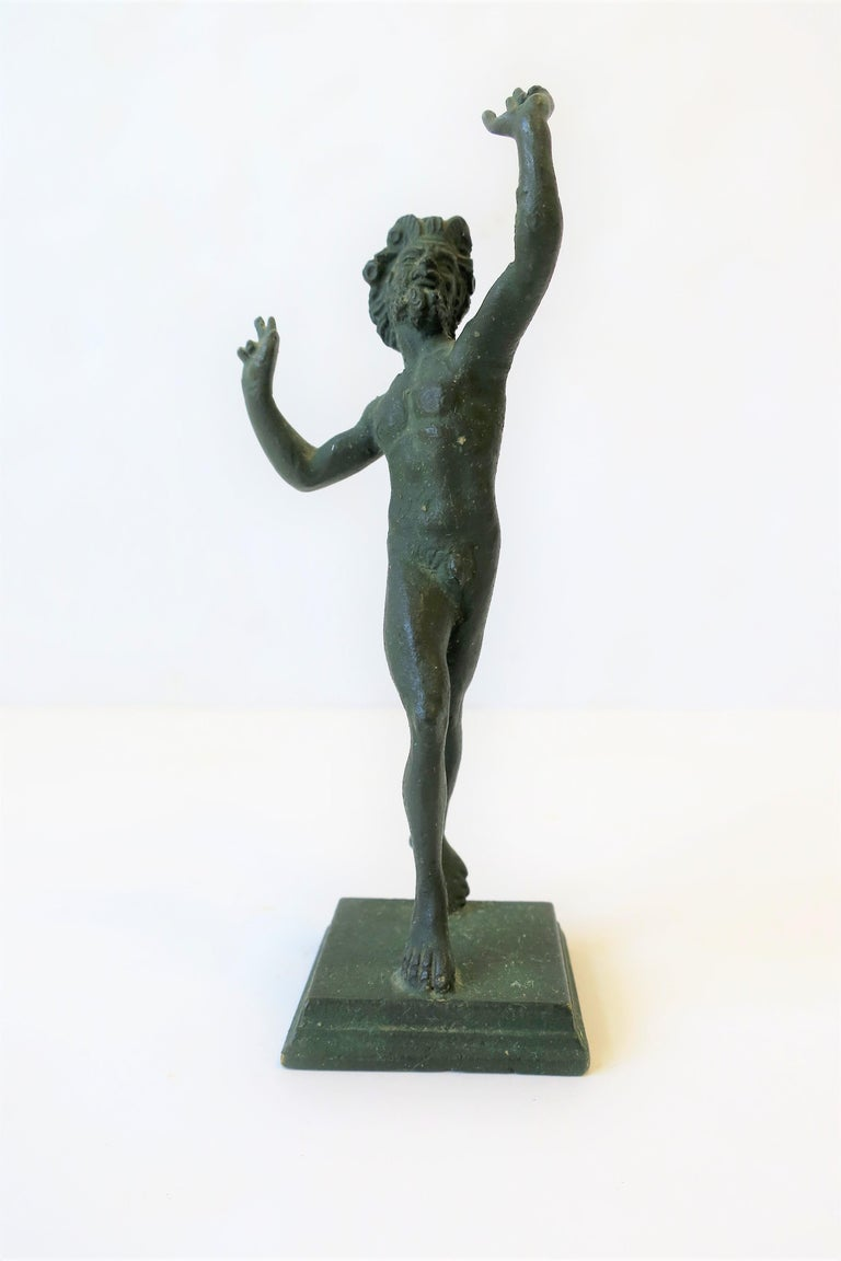 Brass Bronze Figural Nude Greek 'Wine' God 'Bacchus' Sculpture For Sale