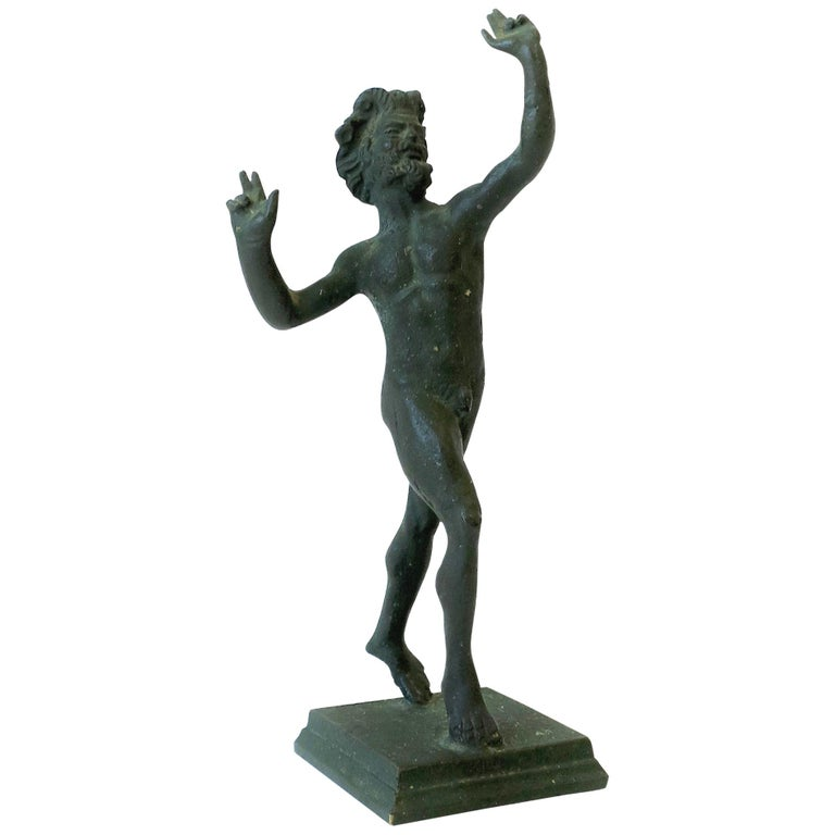 Bronze Figural Nude Greek 'Wine' God 'Bacchus' Sculpture For Sale