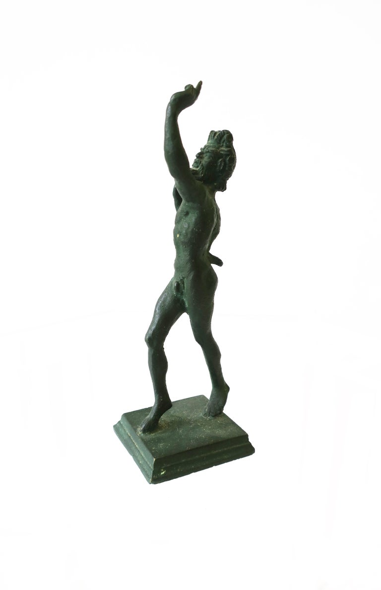 Bronze Figural Nude Greek 'Wine' God 'Bacchus' Sculpture For Sale 1