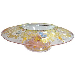 Figural Painted Murano Glass Centerpiece