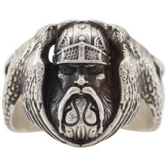 Figural Ring Depicting Odin the Norse God circa 1930 is Beyond Rare