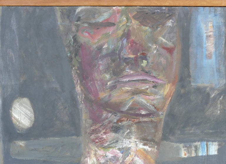 Figurative abstract oil painting by Warren Fischer (1943-2001) titled