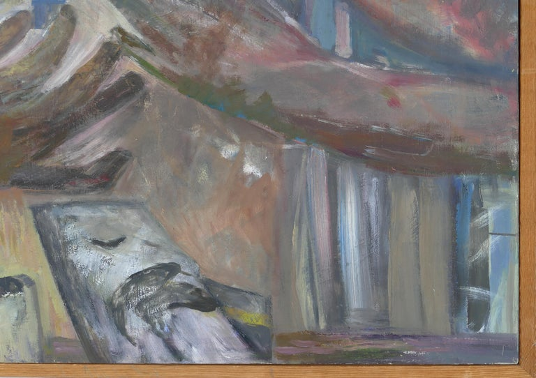 Figurative Abstract Oil Painting by Warren Fischer In Good Condition For Sale In Miami, FL