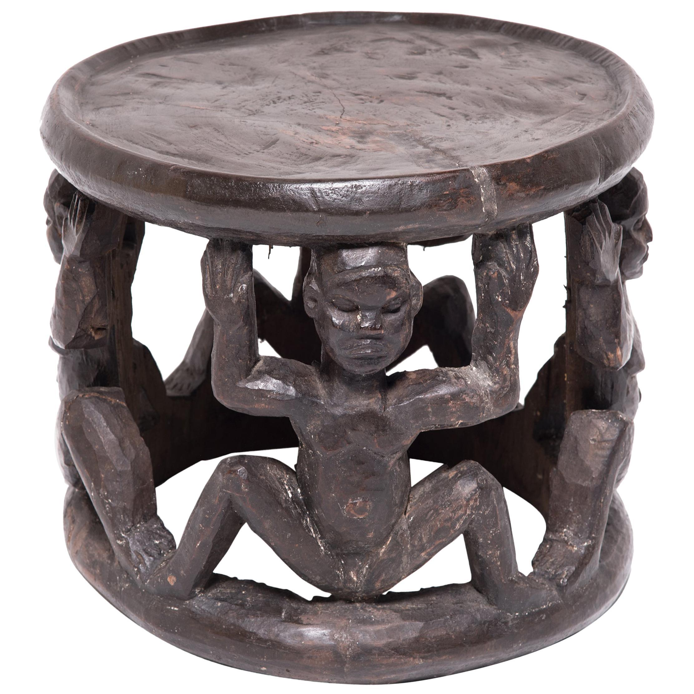 Figurative Bamileke Stool