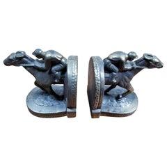 Figurative Horse Jockey Bookends, 1950s