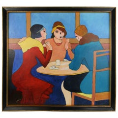 French Cafe Figurative Painting