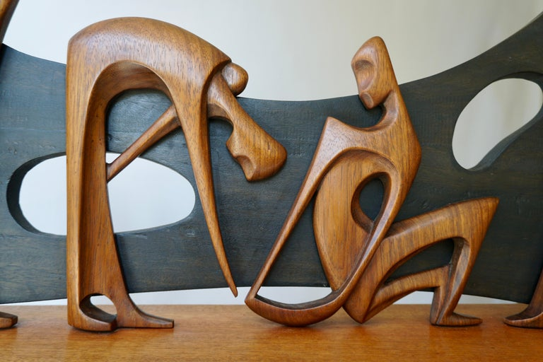 Figurative Wooden Sculpture For Sale 1