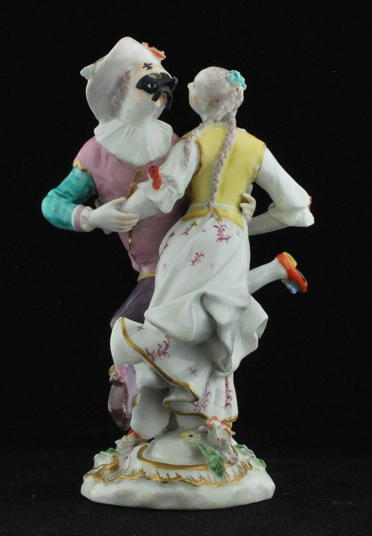 One of the best: Harlequin & Columbine Dancing, after the Meissen figure. This figure is known both with and without the mask.