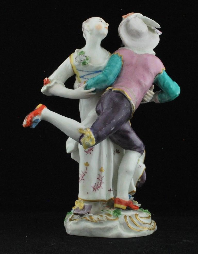 Figure, Harlequine and Columbine, Commedia Dell'arte, Chelsea, circa 1756 In Good Condition For Sale In Melbourne, AU