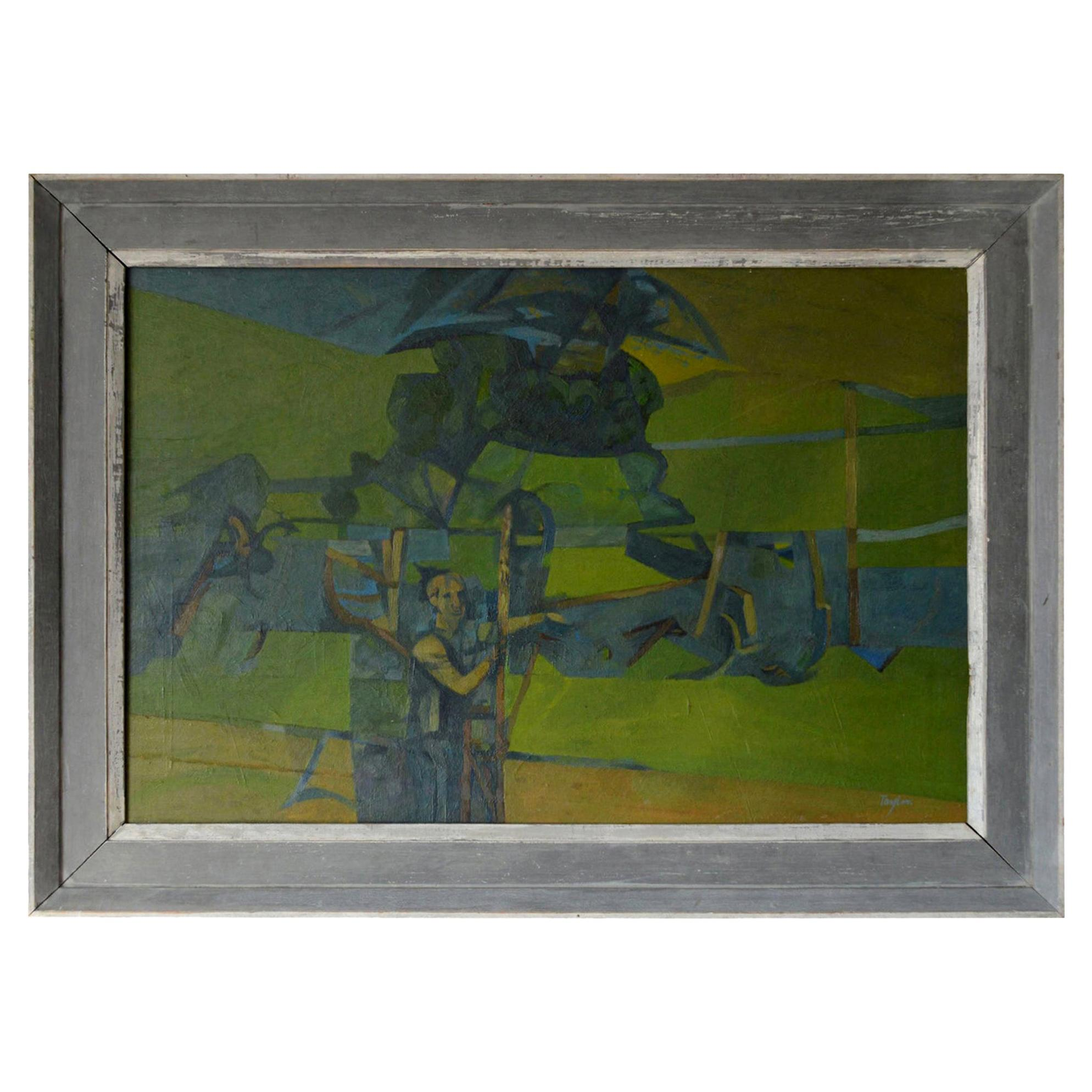 Figure in an Abstract Landscape, A. C. Taylor, circa 1950