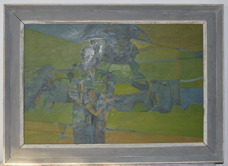 Figure in an Abstract Landscape, A. C. Taylor, circa 1950 In Good Condition In St Annes, Lancashire