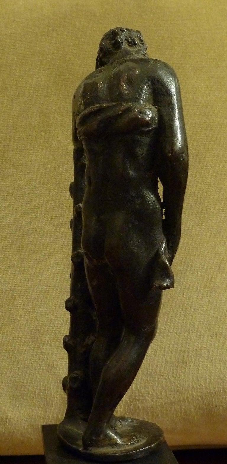 Italian Figure in Dark Patina Bronze, Depicting Hercules For Sale