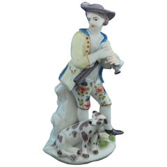 Figure of a Shepherd and His Dismal Hound, Bow Porcelain Factory, circa 1753