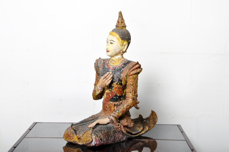 Figure of a Thai Angel In Good Condition For Sale In Chicago, IL