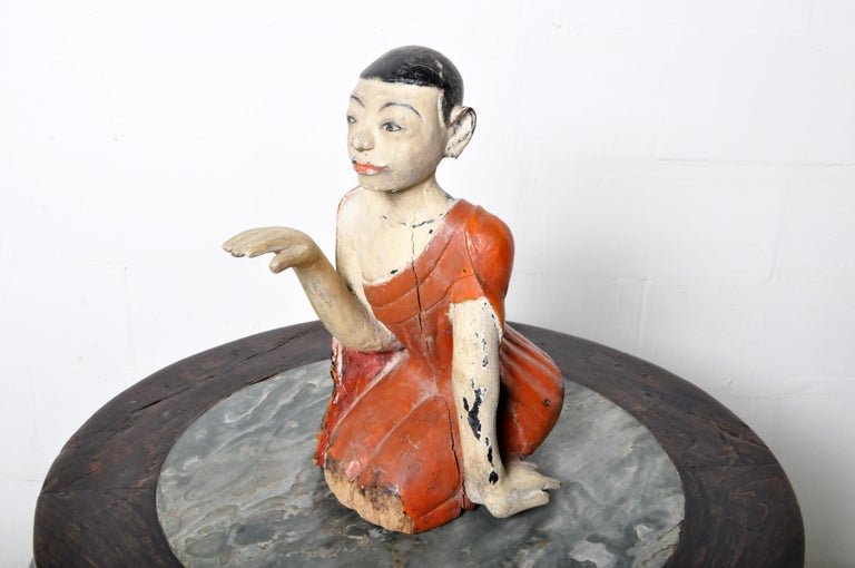 Figure of a Thai Monk For Sale 10