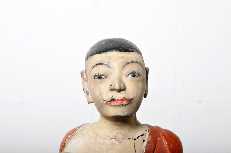 Figure of a Thai Monk For Sale 2