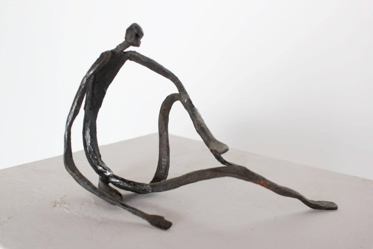 Modern Figurative Sculpture in Hand-Forged Textured Wrought Iron In New Condition For Sale In  London, GB