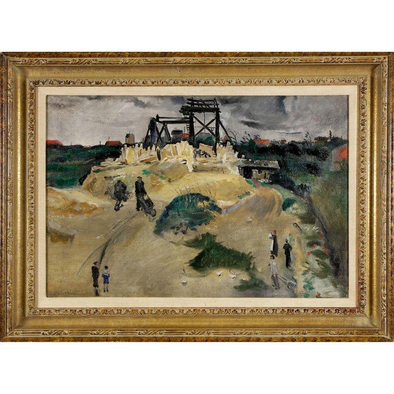 """French """"Figures in a Landscape"""" by Lucien Adrion For Sale"""