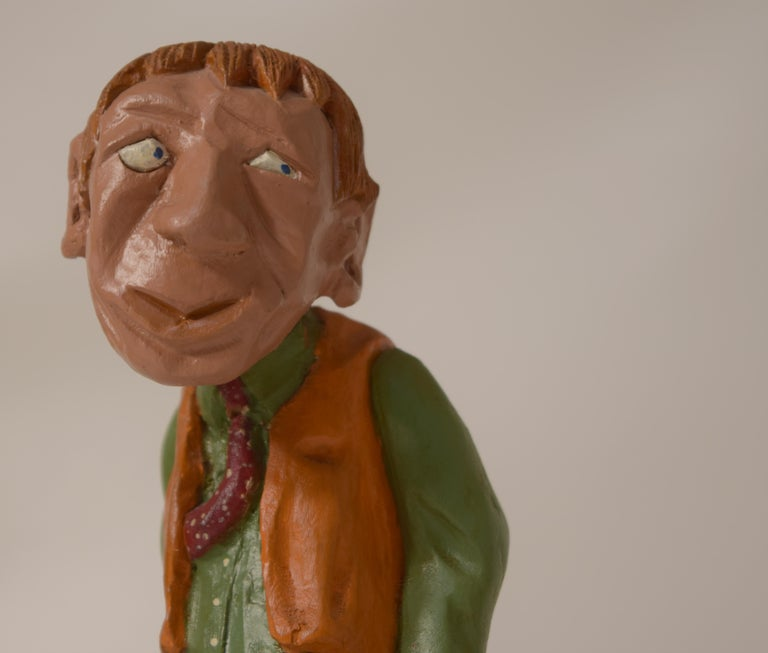 Folk Art Figurines by Dr. Harley Niblack For Sale