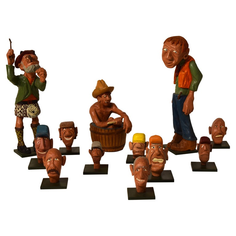 Figurines by Dr. Harley Niblack For Sale