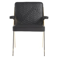 Fiji Armchair in Leather by Roberto Cavalli Home Interiors