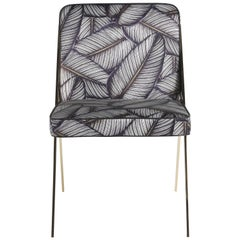 Fiji Chair in Fabric with Metal Frame by Roberto Cavalli Home Interiors