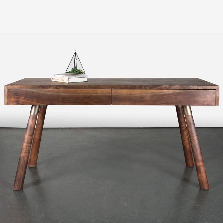 Modern FIJN Desk in Solid Oregon Black Walnut For Sale