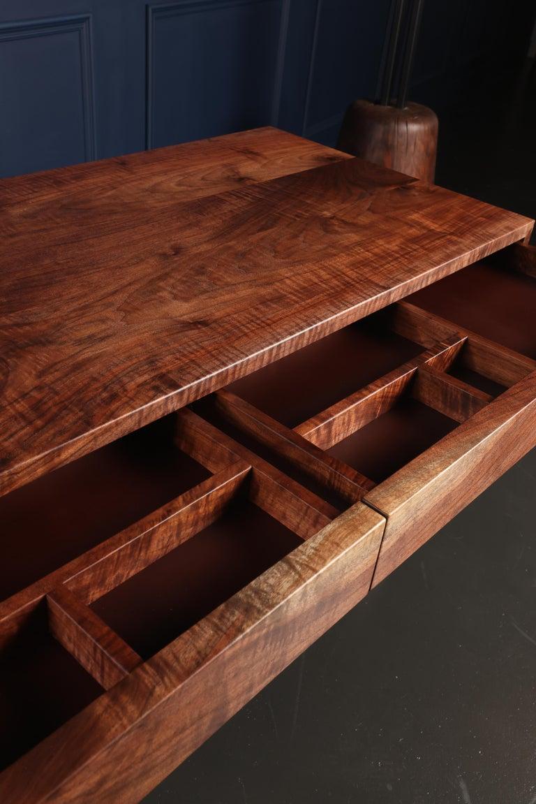 FIJN Desk in Solid Oregon Black Walnut In New Condition For Sale In Calgary, CA