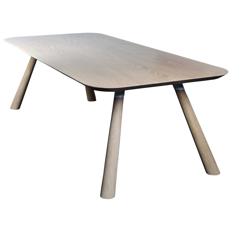 FIJN Dining Table in Solid White Oak, in Stock