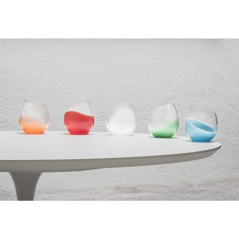Hand-Crafted 21st Century Karim Rashid Glasses Murano Glass Various Colors For Sale