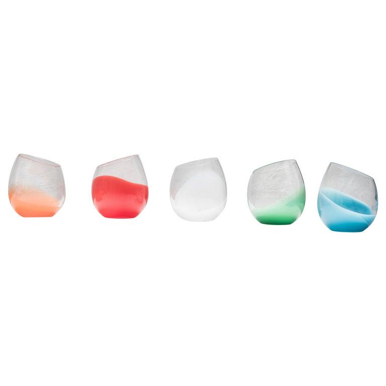 Modern 21st Century Karim Rashid Glasses Murano Glass Various Colors For Sale