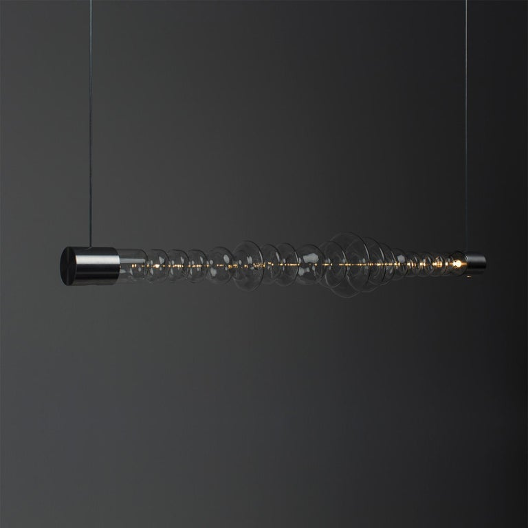 Spanish Filamento Pendant Light in Glass and Aluminum by MAYICE For Sale