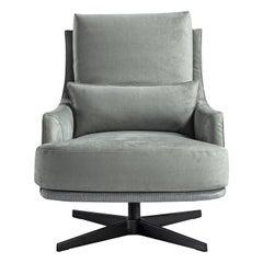 Filicudi Light Green Swivel Armchair