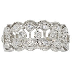 Filigree Diamond Band Ring