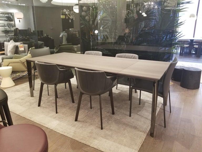 Filigree Extendable Dining Table Black Chrome By Molteni C
