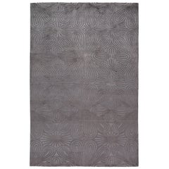 Filigree Hand-Knotted 10x8 Rug in Wool and Silk by Christopher Kane
