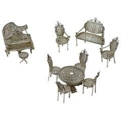 Filigree Miniature Furniture for a Doll's House