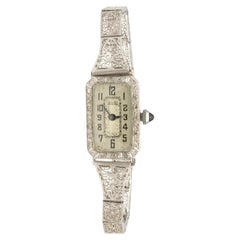 Filigree Platinum Benrus Movement 0.3 Carat Diamond Watch