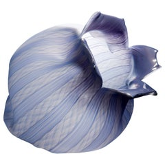 Filigree Spirit Fruit, a Lilac Glass Sculpture by Jeremy Maxwell Wintrebert