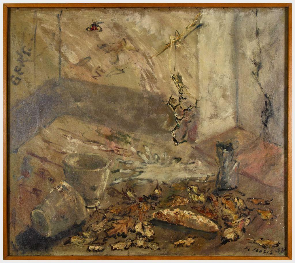 Composition - Original Oil Paint by Filippo De Pisis - 1938