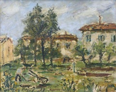 French Countryside - Oil on Canvas by F. De Pisis - 1938