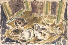 Natura Morta con ostriche, de Pisis (Still Life Oysters Painting)