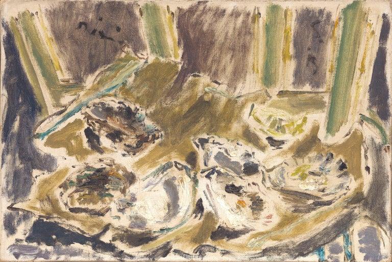 Filippo De Pisis Still-Life Painting - Natura Morta con ostriche, de Pisis (Still Life Oysters Painting)