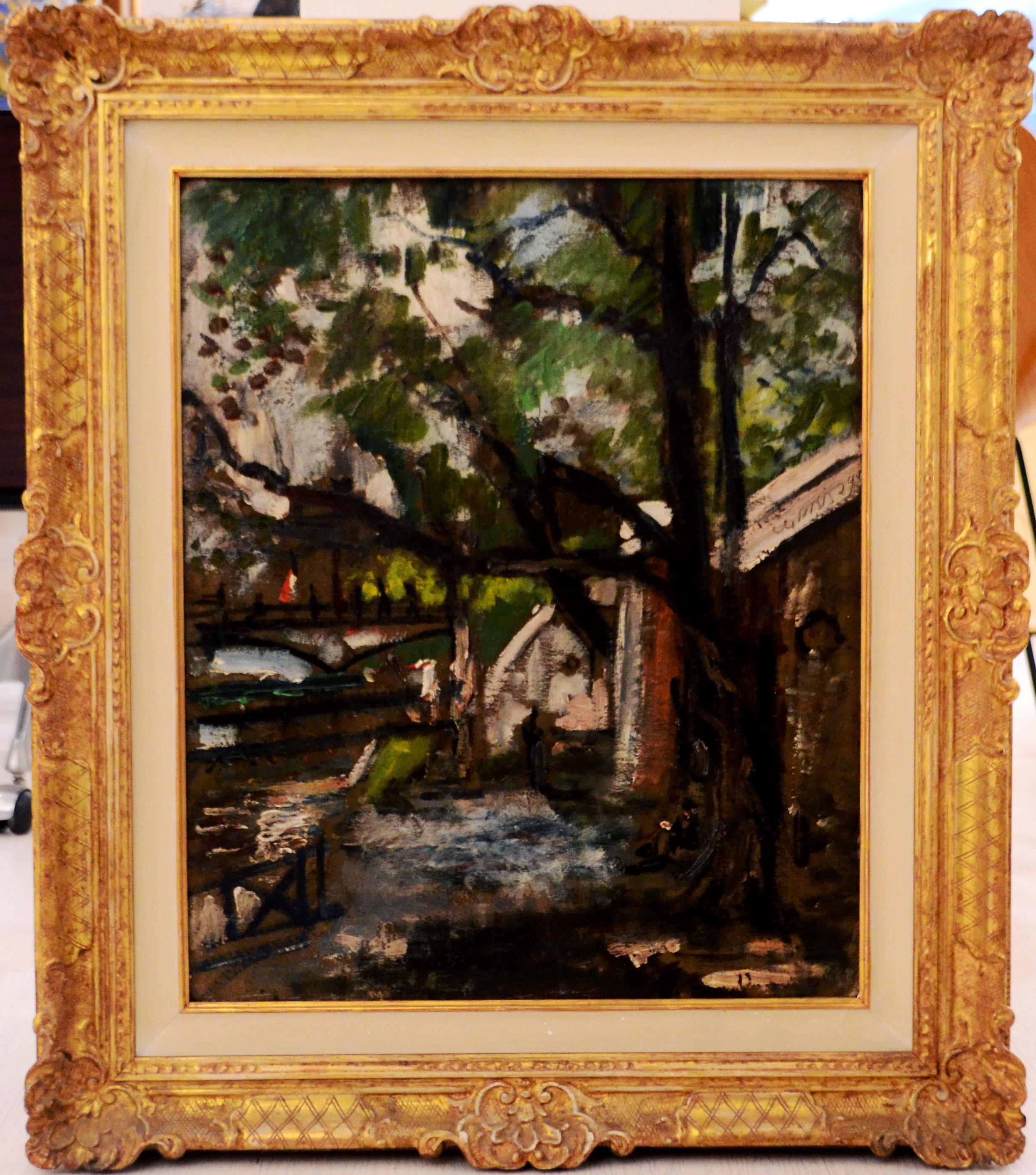 Paris Along the Seine - Oil Painting by Filippo De Pisis - 1929