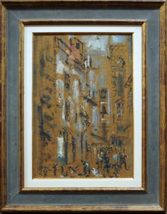 Paris, Hotel des Saint Pères - Oil on Masonite by F. De Pisis - 1948