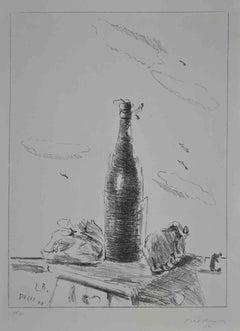 The Bottle - Original Lithograph by Filippo De Pisis -  1944