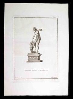 Aphrodite, Ancient Roman Statue - Original Etching by F. Morghen - 18th century