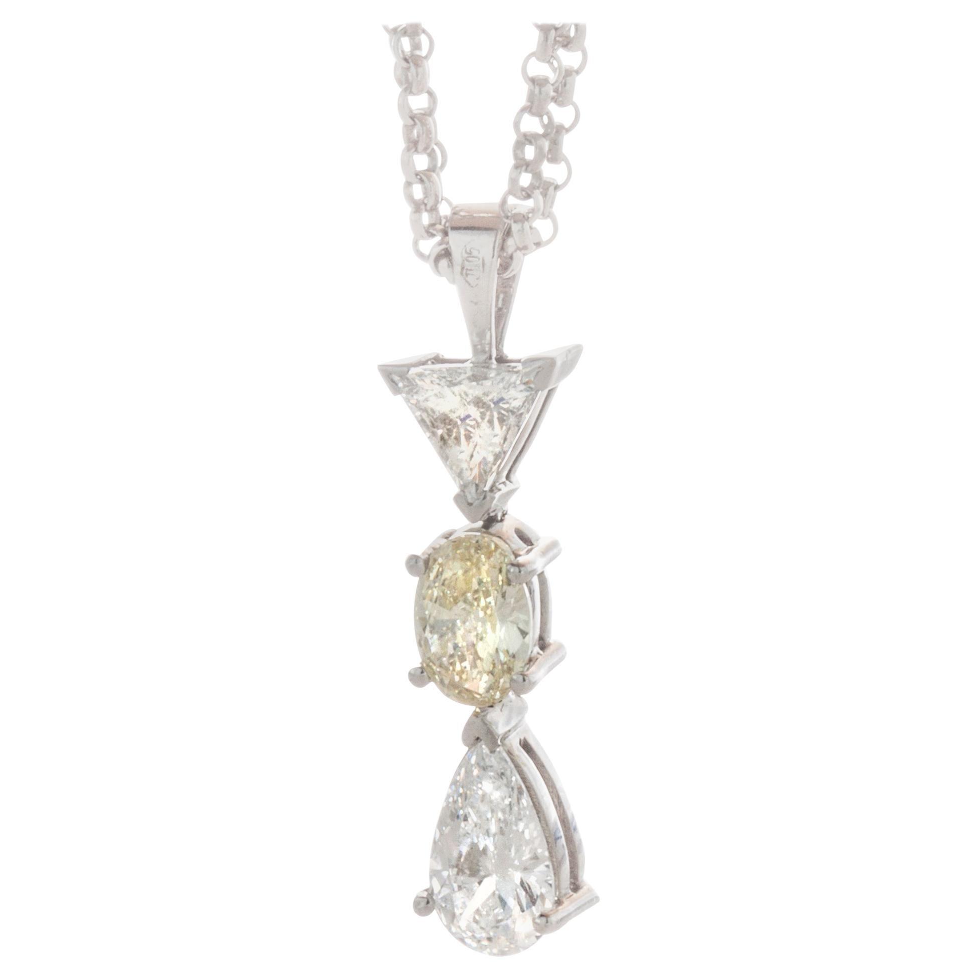 Filk 18 Karat White Gold Italian Necklace
