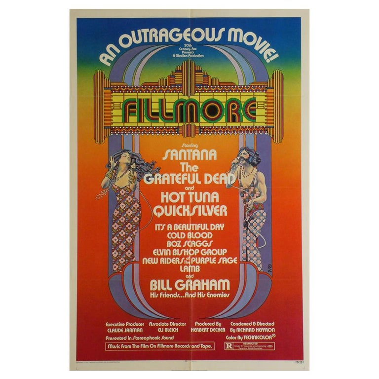 """""""Fillmore"""" 1972 Poster For Sale"""