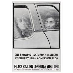 'Films by John Lennon & Yoko Ono' Original US Film Poster